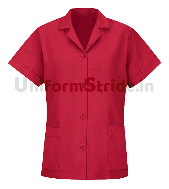 House Keeping Hotels Women Red Tunic HO1009