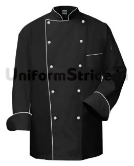 Men Hotel Chef Coat Black Chinese Collared HO1003