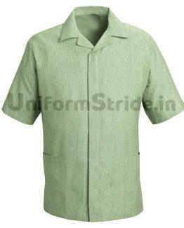 Men House Keeping Green Shirt Service Top HO1016