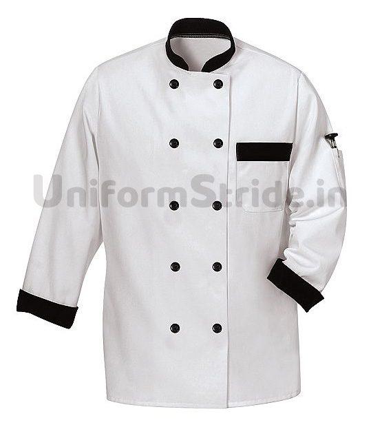White Chef Coat Men Collared Hotel HO1002
