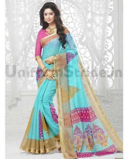 School Uniform Saris Printed Wholesale Price SHS123