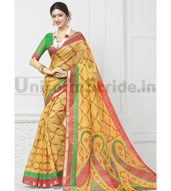 Designer Staff Uniform Sarees Cheap Offer Price SHS88