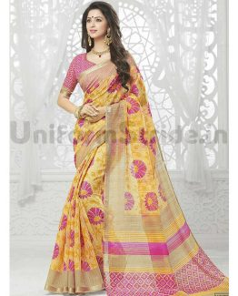 Wholesale Uniform Saree Best Offer Zari Model SHS114