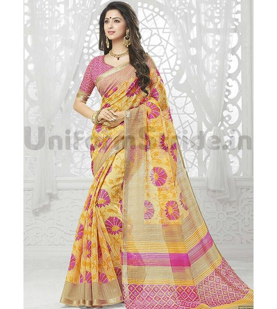 Wholesale Uniform Saree Best Offer Zari Model SHS114