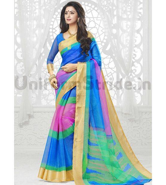 Designer Uniform Sari Online Schools Corporates SHS17