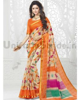 Hospital Latest Uniform Saree Online Printed SHS99