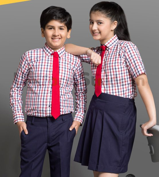Bombay Dyeing Kids School Uniform Shirt and Skirt HU5