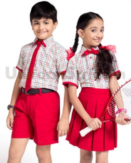 Multi Checkered Boys School Uniform Online HU2