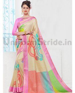 Vasundhra Pattu Uniform Sari Hotel Receptionist SID9060