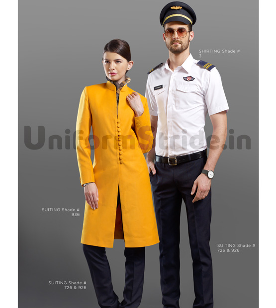 Airways Crew Uniform Yellow Jet Air Asia Pilot HC20