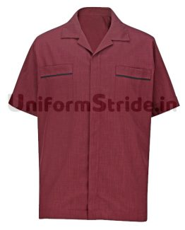 House Keeping Men Shirt Hotel Service Top HO1014