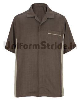 Men Hotel House Keeping Brown Shirt HO1013