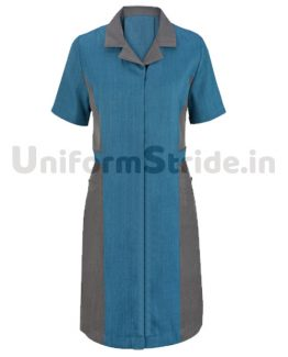 Women House Keeping Tunic Long Blue Top HO1011