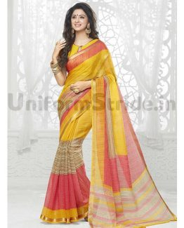 Uniform Sarees Online Printed For Hotels Schools SHS128
